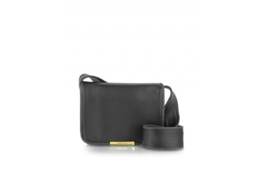 Aster Black Nubuck w/Leather Crossbody Bag