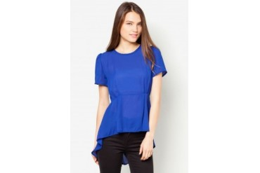 TLA Slim Puff Solid Color Chiffon Top