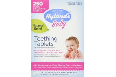 Homeopathic Baby Natural Relief Teething Tablets - 250 Tablets, 3 Pack