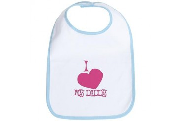 I Love My Daddy Baby Girl Baby Bib by CafePress