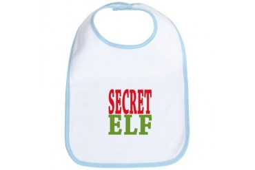 Secret Elf Christmas Bib by CafePress
