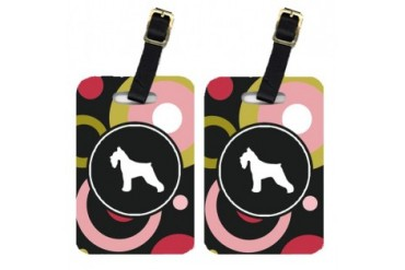 Pair of 2 Schnauzer Luggage Tags