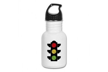 Volleyball Street Light Volleyball Kid's Water Bottle by CafePress