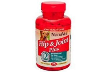 Nutri-Vet Hip amp Joint Plus Chewable Tablets For Dogs, 75 Count