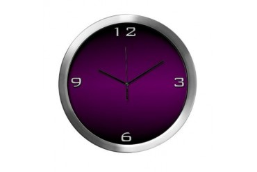 Deep Purple Modern Wall Clock