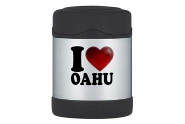 I Heart Oahu Thermos Food Jar Love Thermosreg; Food Jar by CafePress