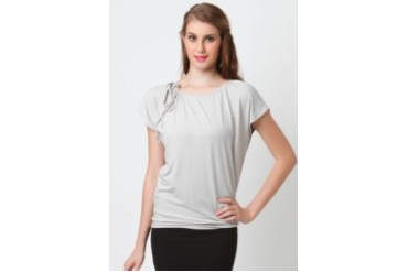 Poivre Gray shirred top