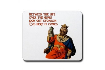 Look Out Stomach Beer Mousepad by CafePress