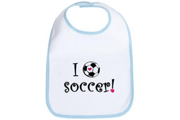 I Love Soccer Sports Bib by CafePress