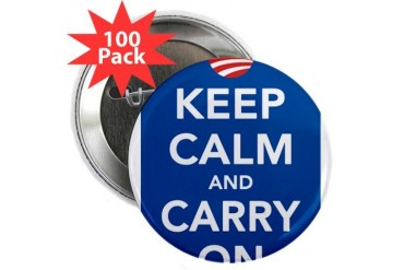 Keep Calm Democrats Obama 2.25 Button 100 pack by CafePress