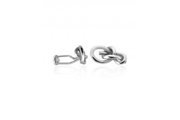 Polished Sterling Silver Knot Cuff Links