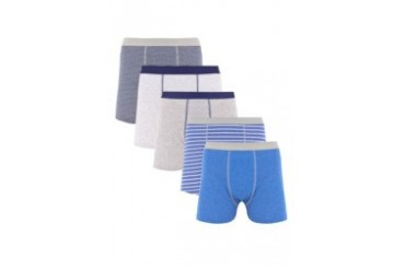RIVER ISLAND Blue Mixed Boxer Shorts Pack