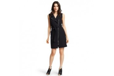 Heidi Asymmetric-Zip Dress