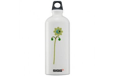 Green Button Flower Nature Sigg Water Bottle 1.0L by CafePress