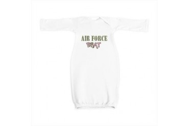 AirforceBrat.png Funny Baby Gown by CafePress