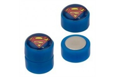 DC Comics Superman Logo Acrylic Faux Plug Magnetic Earrings