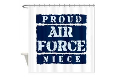Proud Air Force Niece Air force Shower Curtain by CafePress