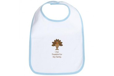 I am thankful for my family Grandma Bib by CafePress
