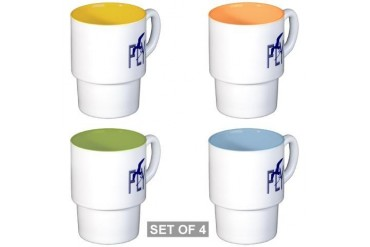 FLY Vintage Stackable Mug Set 4 mugs by CafePress