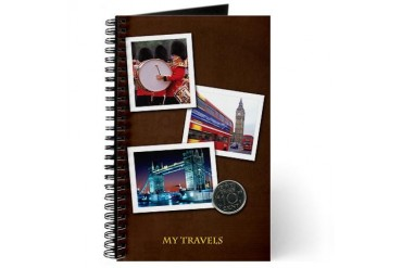British/London Travel British Journal by CafePress