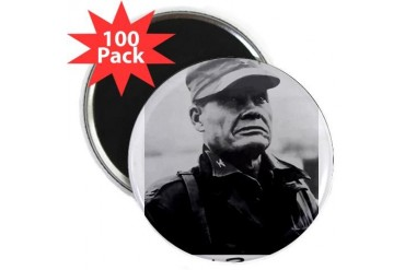 Chesty Puller w text Usmcfp 2.25 Magnet 100 pack by CafePress