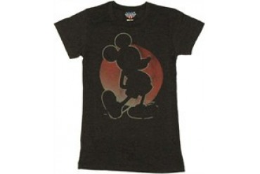 Disney Mickey Mouse Silhouette Baby Doll Tee by JUNK FOOD