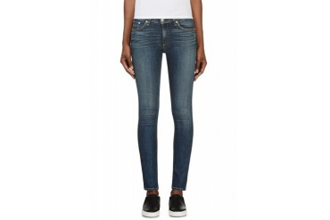 Rag And Bone Blue Faded Preston The Skinny Jeans