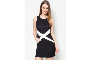 Something Borrowed Cross Front Fitted Dress