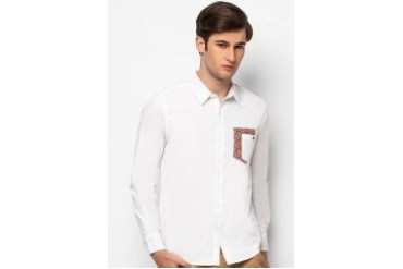 Neverland Casual Long Sleeves Shirt with Pocket Details