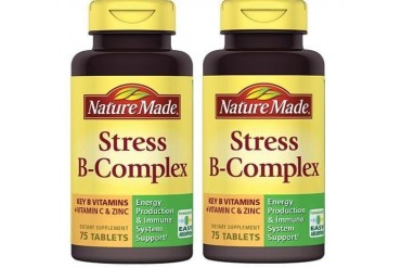 Nature Made Stress B-Complex Tablets With Vitamin C and Zinc 2 Bottle Pack