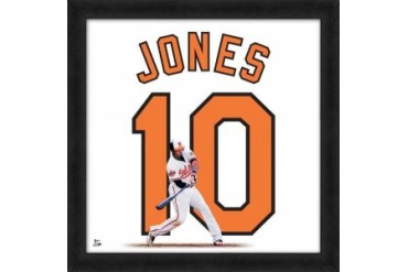 Adam Jones Framed Baltimore Orioles 20x20 Jersey Photo