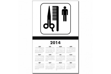 Barber Shop Funny Calendar Print by CafePress
