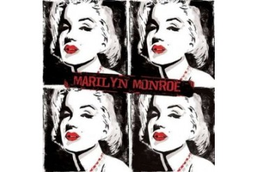 Red Monroe Watercolor Poster Print by Enrique Rodriquez Jr (24 x 24)