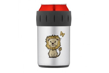 lion and butterfly png.png Thermos Can Cooler Animals Thermosreg; Can Cooler by CafePress