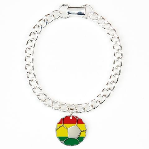 Bolivia Flag World Cup Soccer Football Futbol Ball Charm Bracelet One By Cafepress