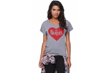 Womens Bravado Bravado Womens - Bravado The Beatles Crop T-Shirt