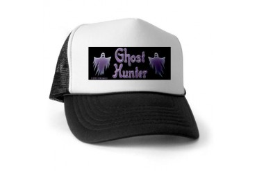 Two Ghosts Ghost Hunter Ghost Trucker Hat by CafePress