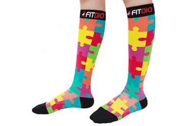 FDX Jigsaw Puzzle 20-30mmHG Premium Grade Compression Socks
