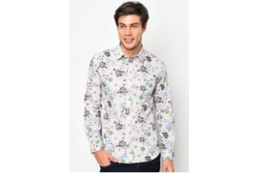 FMS by Radioactive Retro Floral Long Sleeve Shirt
