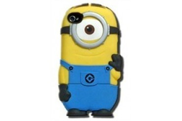 Despicable Me Carl Chara-Cover iPhone 4/4S Rubberized Hard Phone Case
