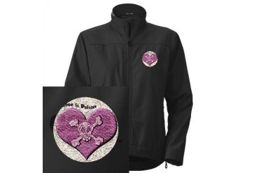 Love is Poison Skull Women's Performance Jacket by CafePress
