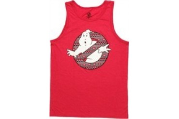 Ghostbusters Tribal Design in Logo Tank Top