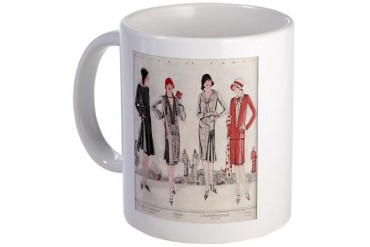Paris Fashion Flapper Women Vintage Art Women Mug by CafePress