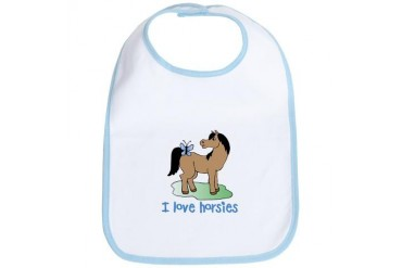 Cute horse lover boys Pets Bib by CafePress