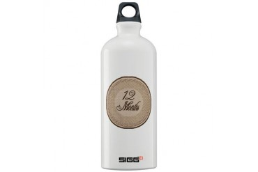 Vintage Lace Milestone 12 Months Sigg Water Bottle Vintage Sigg Water Bottle 1.0L by CafePress