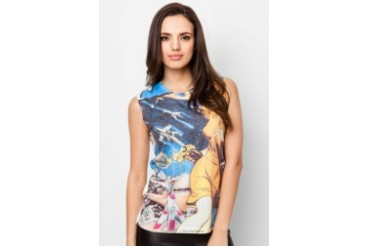 Radio Days @ urban TEE Retro Cartoon Sleeveless Top