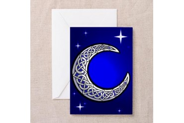 Celtic Knotwork Moon Cards Pk of 10 Irish Greeting Cards Pk of 10 by CafePress