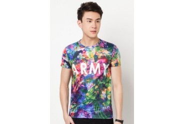 Jae Homme Flower Army T-Shirt