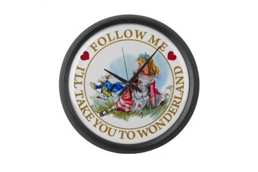 Follow Me To Wonderland Baby Large Wall Clock by CafePress