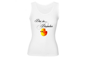 Due in December Mommy's Tank Top Baby Women's Tank Top by CafePress